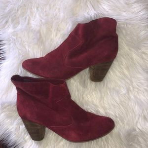Suede booties from Urban Outfitters